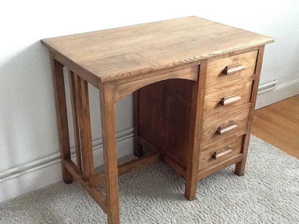 El taller de chlo escritorio antiguo de roble - El taller de lo antiguo ...