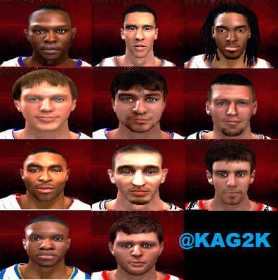 NBA 2K13 Rookies Cyberface Pack