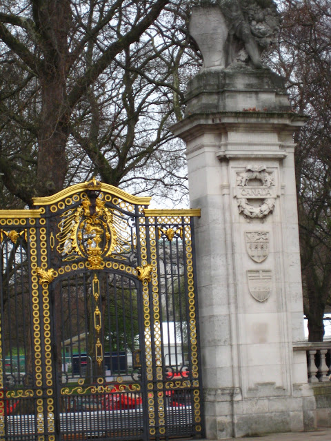 Canada Gate at Buckingham Palace in London, England.