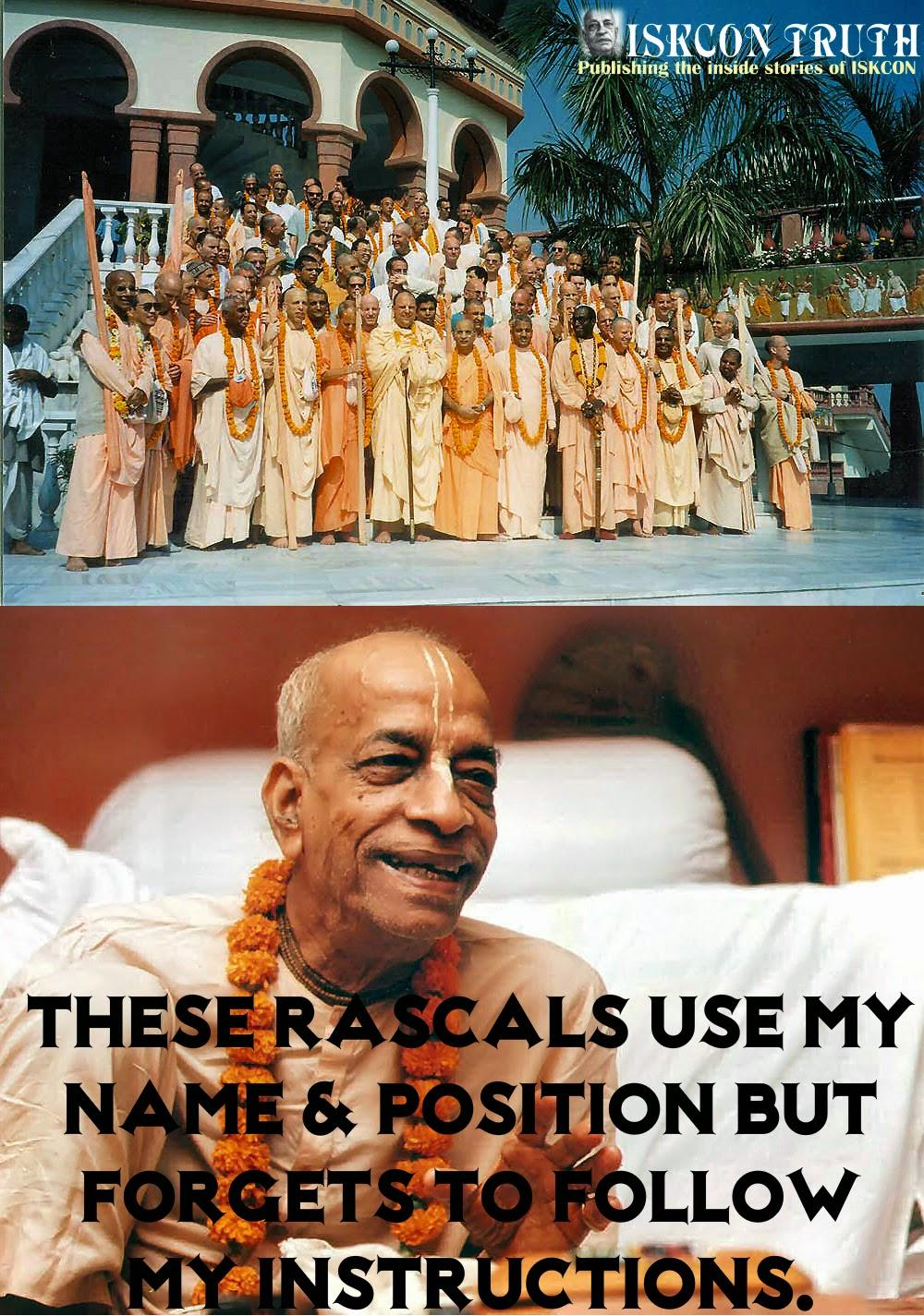 ISKCON guru trolled by prabhupada