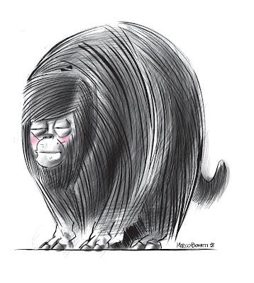 Sketch di Marco Bonatti di Cyrano Comics