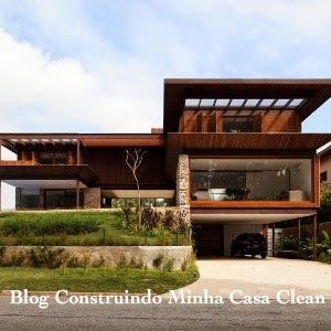 Construindo minha casa clean fachadas de casas em for Entrada piscina
