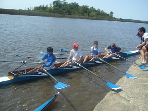 4 con timonel, Entrenador Rodolfo Collazo en Planchada