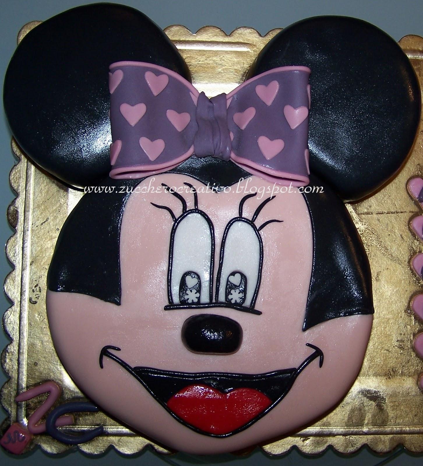 Torta Viso Minnie Per Marta Zucchero Creativo