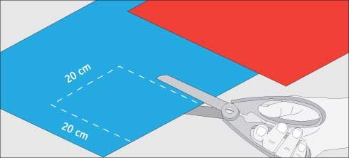 Cortar los trozos para el remolino de papel