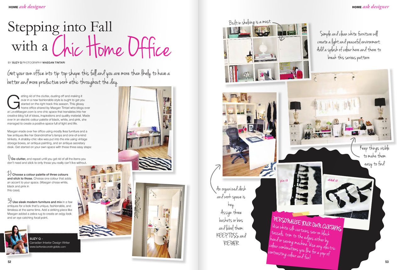 home office feature in Abode Magazine October 2012
