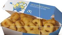 Batata frita em formato de Minions no McDonald's