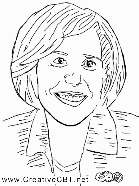 Sketch of famous psychotherapist Judith Beck of CBT