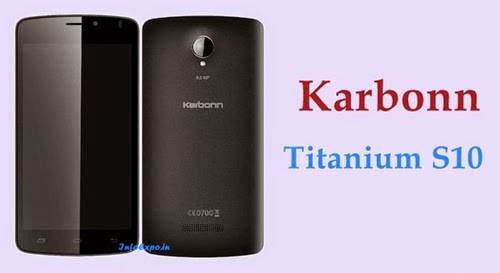 Karbonn Titanium S10: 5-inch, 1.3GHz Quad core Android Kitkat Phone Specs, Price