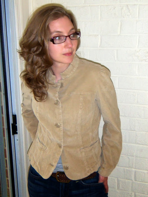 Tan fitted jacket