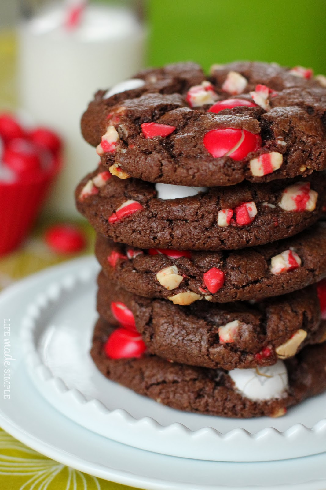 Life Made Simple: Chocolate Peppermint M&M Cookies