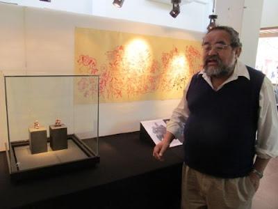 Walter Alva presenta figuras de las dinastía Sipán