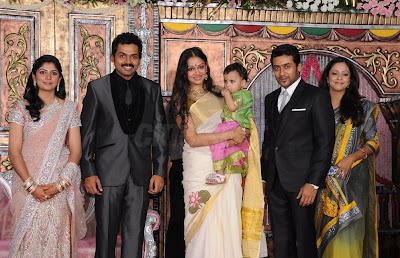 Jo in Karthi reception stills