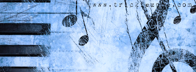 Facebook Timeline Cover Classical Music Passion Blue