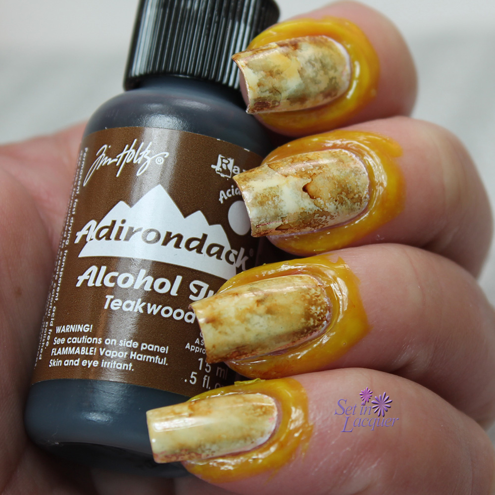 Alcohol ink makes for marvelous marbled nail art | Set in Lacquer ...