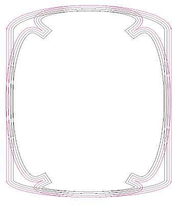 lineas de colores, bordes multilineas, bordes con varias lineas, bordes multilineas, bordes con lineas de diferentes colores
