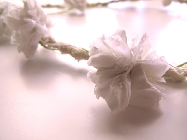 tissue flower crown