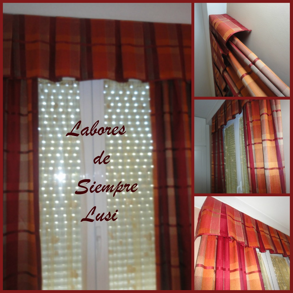 Labores de siempre cortinas con band for Como hacer un bando para cortinas