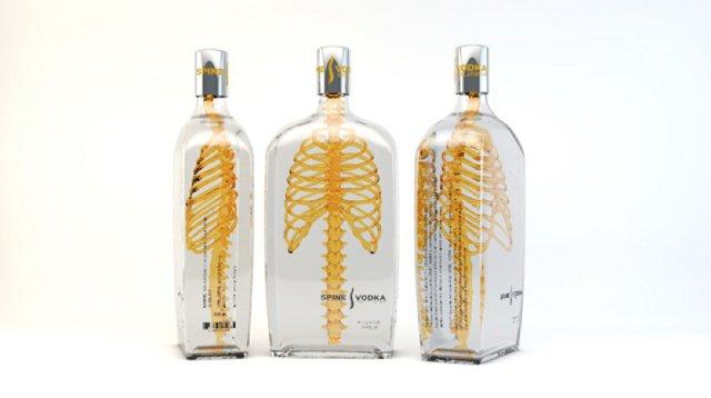 Cute Spine Vodka Packaging