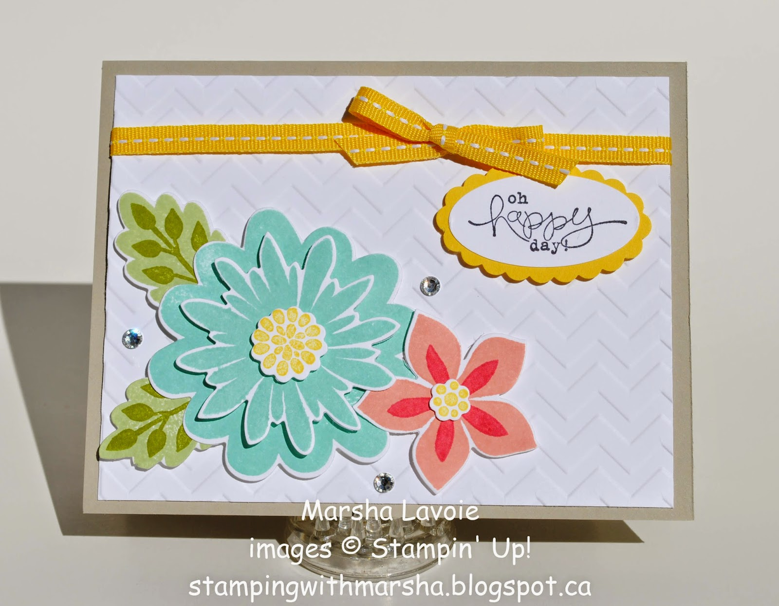 stampin up cards bloomin marvelous