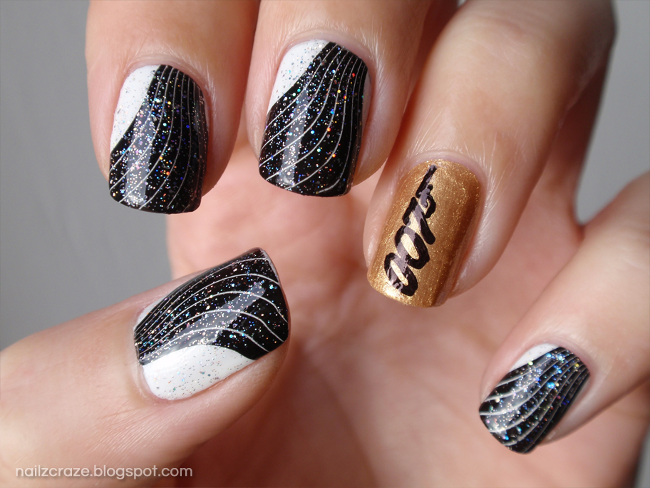 James Bond Skyfall inspired nails - Nailz Craze