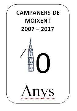 """7 de maig de 2017:    """"X Aniversari"""""""