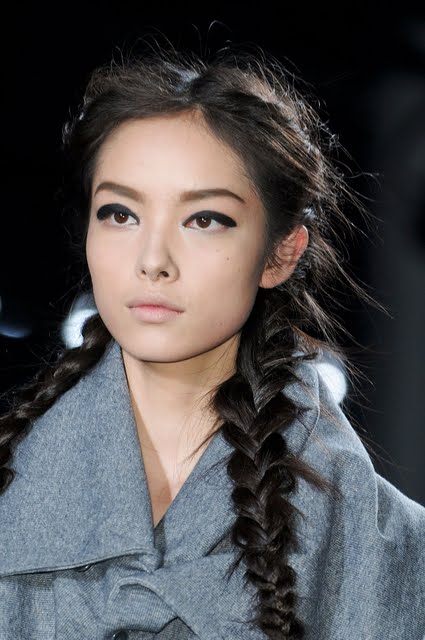 Pigtail braids at Y-3 Fall/Winter 2011 Show