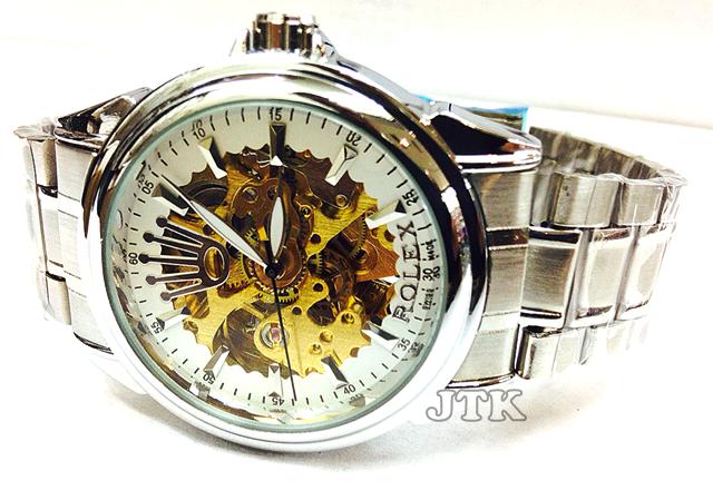 Jam Tangan Rolex Skeleton Queen Stainless Rp 225000