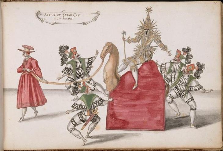 humorous caricature - grotesque masque ballet