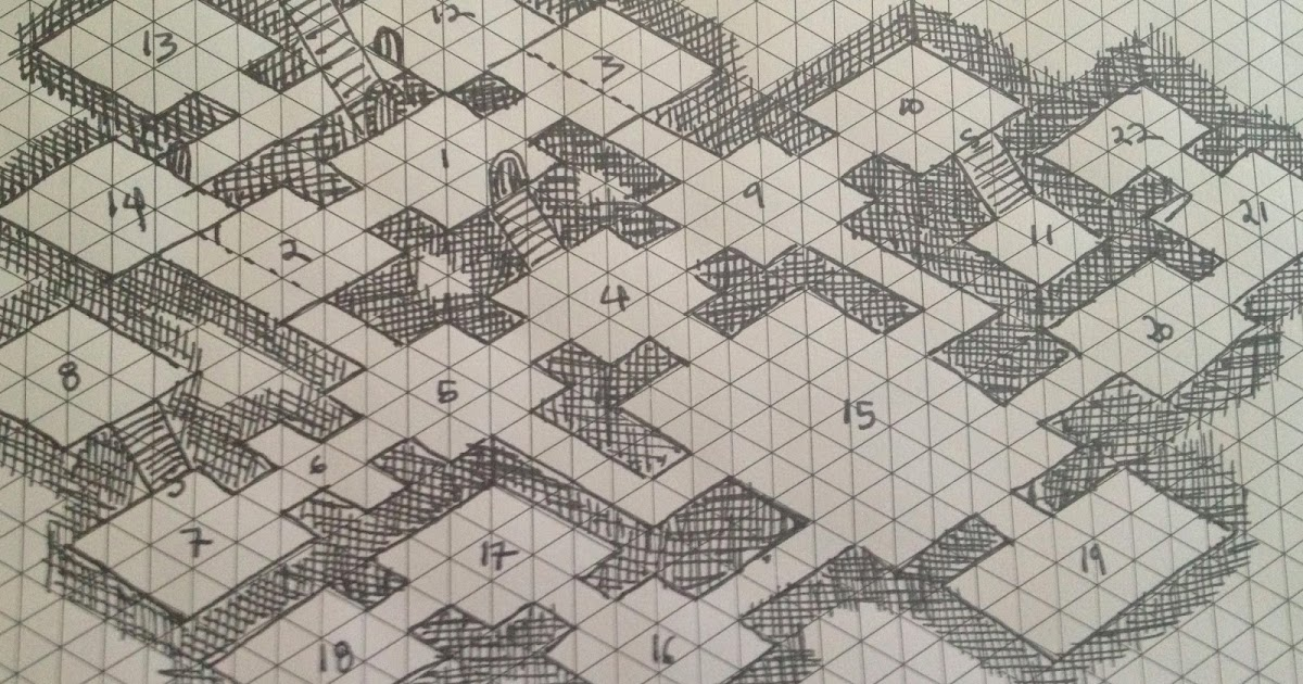 Savage swords of athanor monday map isometric dungeon for Floor 2 dungeon map