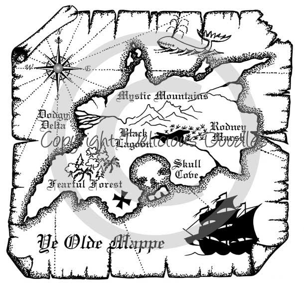 Treasure Map Background Black And White Teris World January 2012
