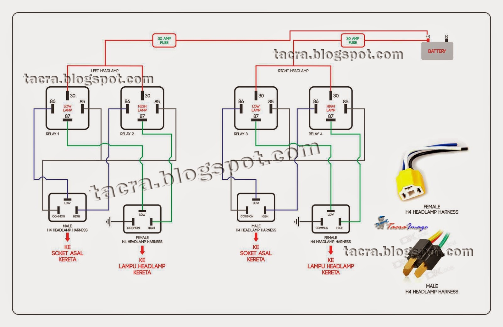 Proton Saga Blm Fuse Box Diagram F Under Dash Tacra S Diy Garage Headlamp Relay Kit Spdt