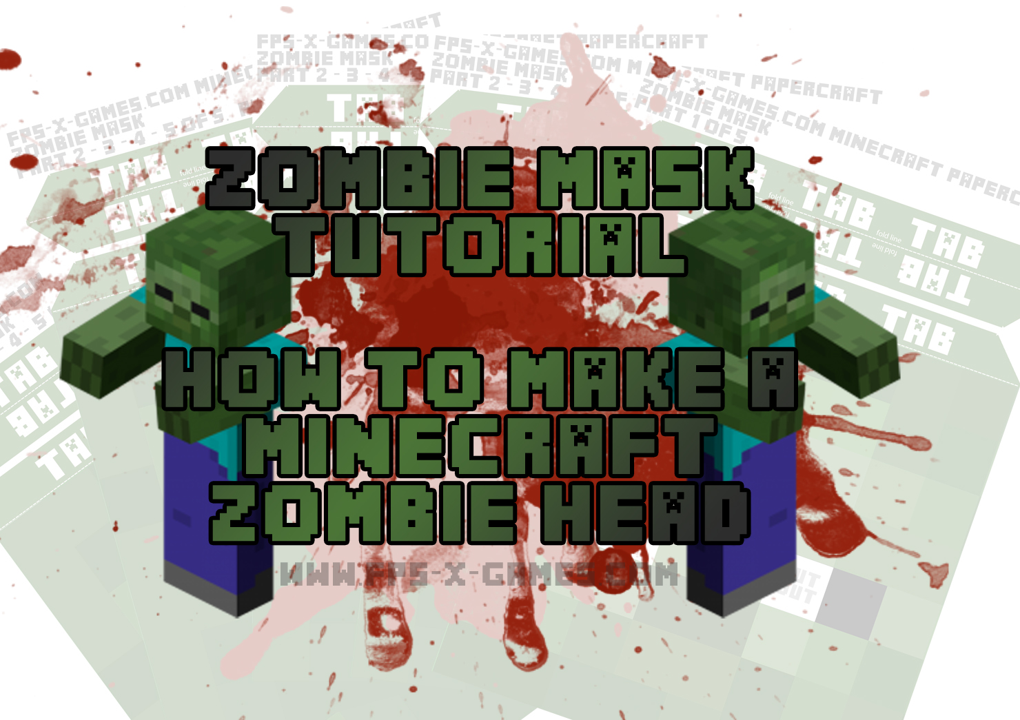 Facebook how to create a minecraft zombie head zombie mask tutorial solutioingenieria Images