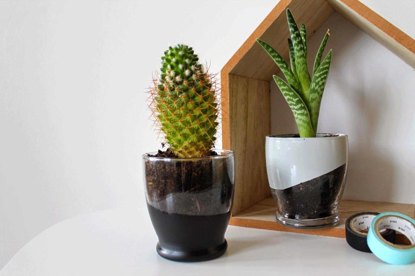 Diy le verre qui devient pot de fleur le bazar d - Diy pot en verre ...