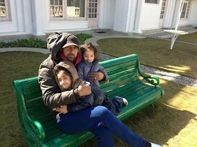 Gippy Grewal With His Sons - Exclusive Photo 2013