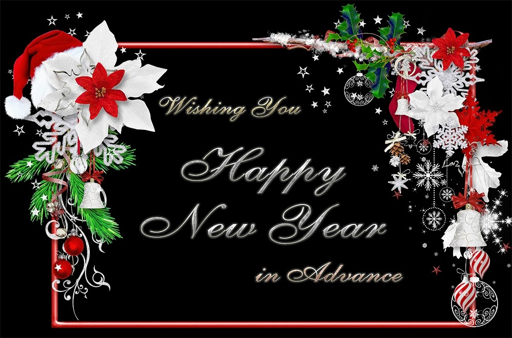 Beautiful Flowers New Years Advance Wishes 2015 eCard Images