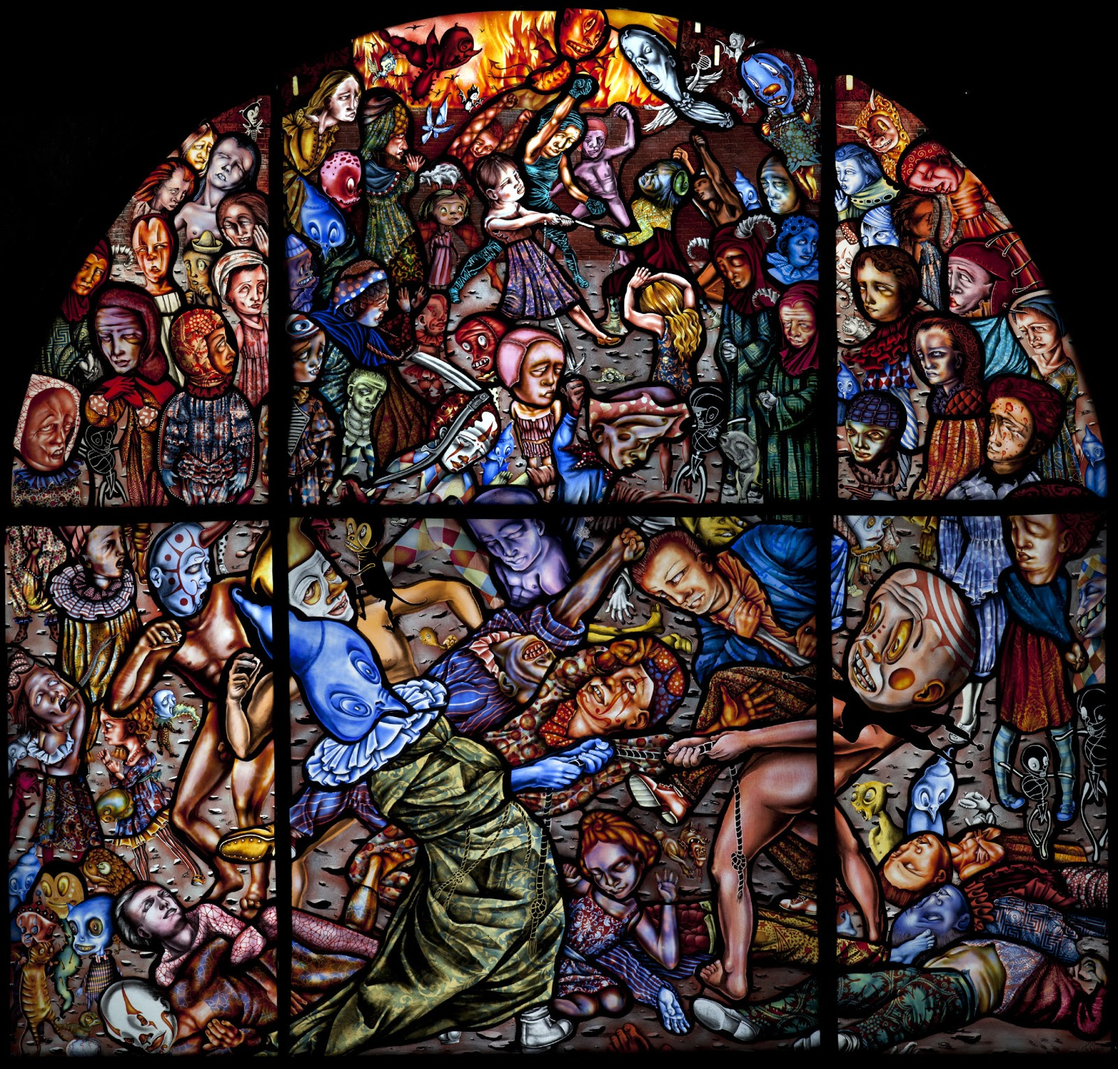 Stained Glass Art : Late breaking noose eastern state windows reworked