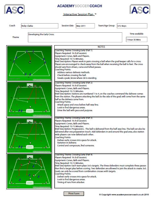 Soccer practice plan template soccer practice sessions soccer daily thecheapjerseys Image collections