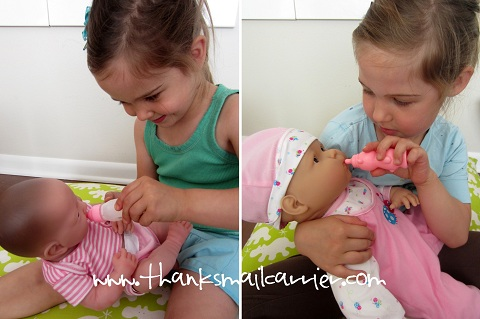 feeding baby dolls