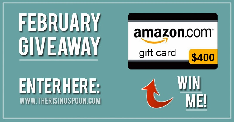 Time for me to announce the winner of February's self-paid giveaway! The prize is a $400 amazon.com gift card!