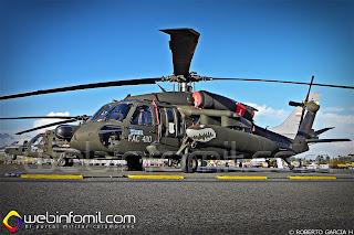 FAC4110 Helicóptero UH-60 Black Hawk de la Fuerza Aérea Colombiana