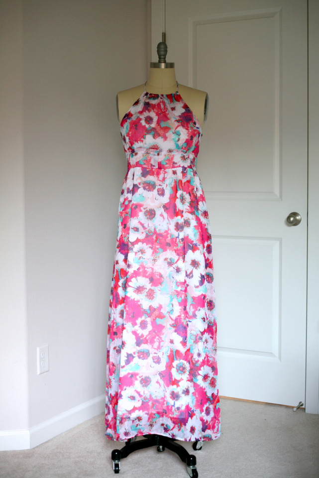 A Major Floral Maxi Dress For A Very Special Wedding Create Enjoy