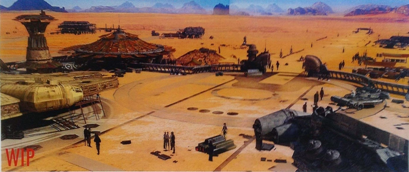 falcon concept art star wars 7