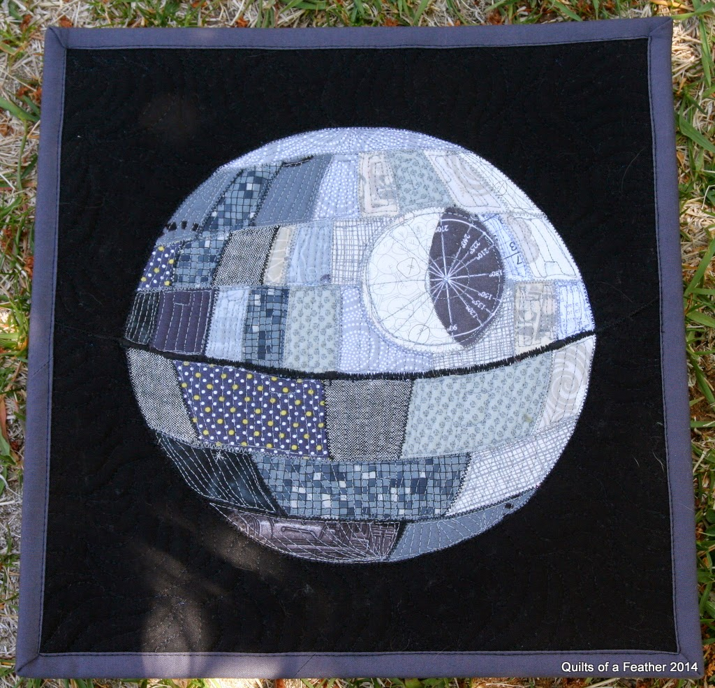 Quilts Of A Feather Patchwork Death Star Mini Quilt