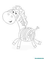 Gambar Kartun Zebra