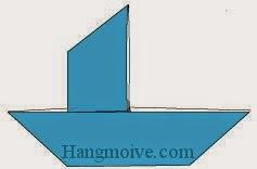 Bước 11: Hoàn thành cách xếp thuyền buồm bằng giấy đơn giản.
