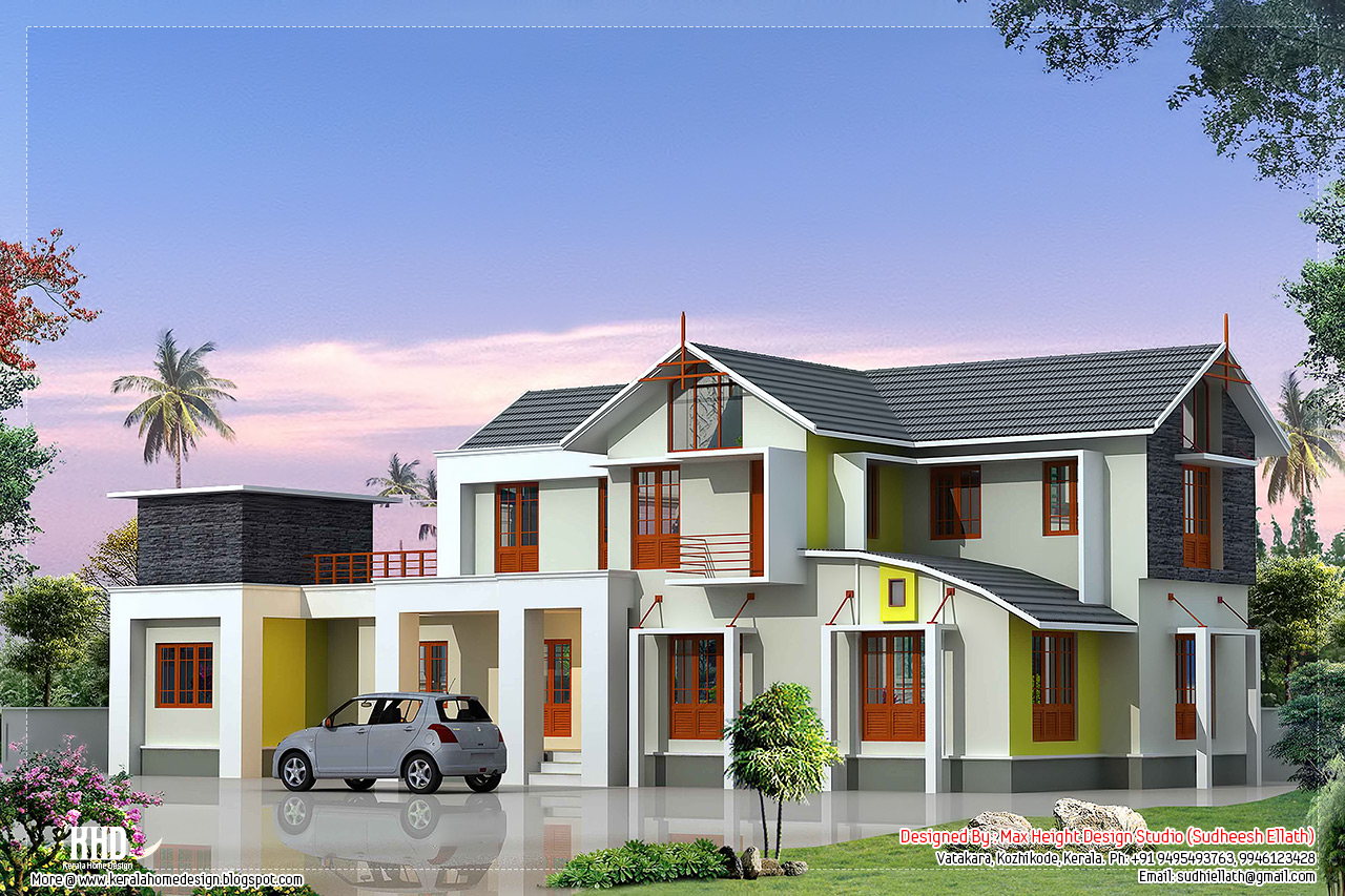 2700 4 Bedroom House Elevation Kerala House Design
