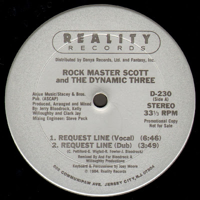 Rock Master Scott & The Dynamic Three ‎– Request Line / The Roof Is On Fire (VLS) (1984) (FLAC + 320 kbps)