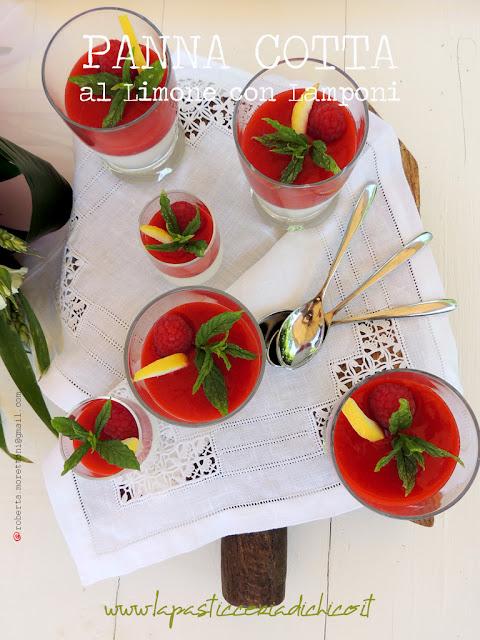 Panna cotta al limone con lamponi - www.lapasticceriadichico.it