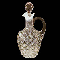 EAPG White Opalescent Lattice Paneled Sprig Cruet